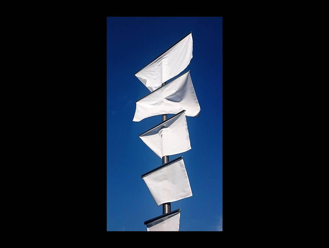 Die DIN-Standarte ist eine Konstruktion aus einen 5m hohen, vertikalen Stahlrohr an dem elf horizontale Nebenrohre angebracht sind, an welchem wiederum Stofffahnen in der Papierformatreihe A befestigt sind.