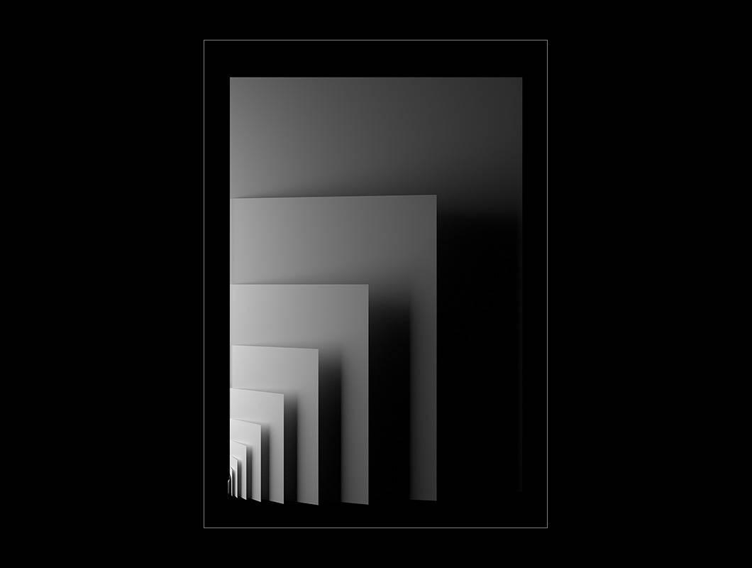 Das »DIN-Form-Archiv« ist eine Sammlung von DIN-Formaten die im virtuellem Raum inszeniert wurden. Jede »DIN-Form« enthält mindestens einmal die DIN-Formate DIN A1 bis DIN A10 und wurde mit Hilfe von Licht, Reihung und Kamerawinkel variiert.