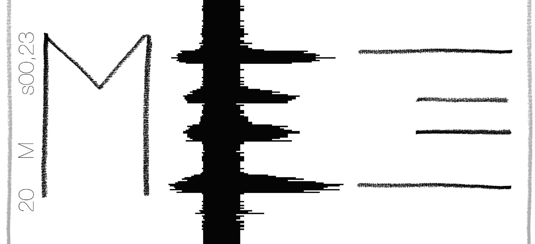 Nelly Geburtig / Schrift als Ton, Ton als Schrift / Somit ist es möglich, allein von den Tönen (sowohl als Geräusch als auch bei der optischen Tonkurve) zurück auf den ursprünglichen Buchstaben schließen.