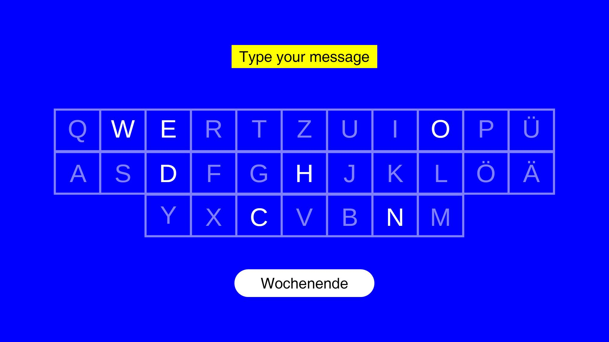 Pia Wolter Glype Texting just by typing. Too slow.