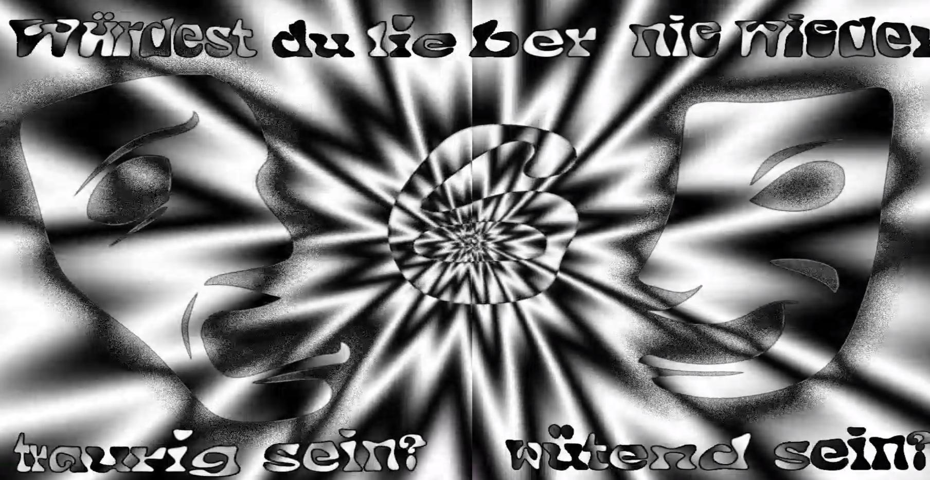 """Willkommen zu """"Torben Zs' Super Crazy Amazing Reveal Your Incredible Inner Self Quizz"""", einem Retro-Futuristischen Ausflug in Torben Zs' Quiz der multiplen Persönlichkeiten, der euch durch totale Reizüberflutung zu eurem Innersten führen wird. Dort erwartet euch am Abgrund eurer wahren Persönlichkeit eine kollektiv-kreative Offenbarung. (©Willkommen zu """"Torben Zs' Super Crazy Amazing Reveal Your Incredible Inner Self Quizz"""", einem Retro-Futuristischen Ausflug in Torben Zs' Quiz der multiplen Persönlichkeiten, der euch durch totale Reizüberflutung zu eurem Innersten führen wird. Dort erwartet euch am Abgrund eurer wahren Persönlichkeit eine kollektiv-kreative Offenbarung.)"""